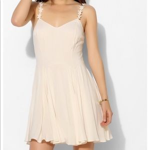 Urban outfitters daisy strap sundress cream color
